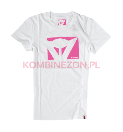 Dainese T-SHIRT COLOR NEW LADY (bianco/fuxia)