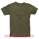 Dainese T-SHIRT DON'T CALL ME TOURIST Verde-Militare (zielony-wojskowy)