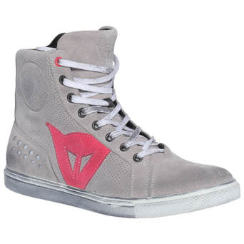 Dainese STREET BIKER LADY AIR LIGHT-GRAY/CORAL