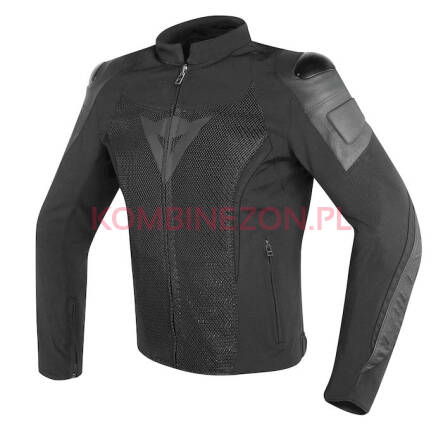 Dainese MIG LEATHER-TEX JACKET - czarno/czarny