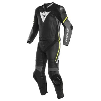 Dainese Laguna Seca 4 2PCS SUIT black/charcoal-gray/yellow