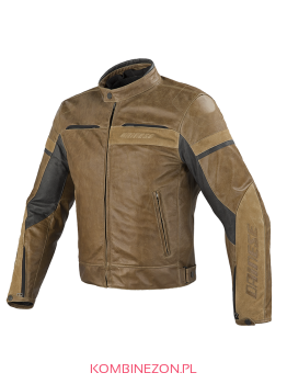 Dainese STRIPES EVO C2 LEATHER JACKET- Tobacco