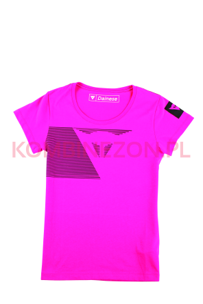 Dainese FAST STRIPES LADY T-SHIRT- fuksja