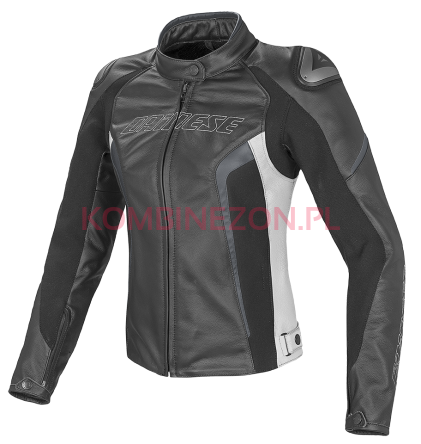 Dainese RACING D1 Pelle Lady czarno/biało/antracyt