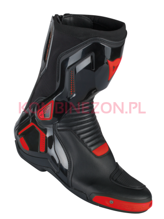Dainese COURSE D1 OUT BOOTS czarno/czerwomy-fluo.