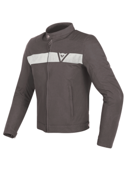Dainese STRIPES TEX JACKET dark-brown/white