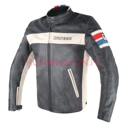 Dainese HF D1 LEATHER JACKET black/ice/red/blue