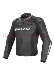Dainese RACING D1 SHORT/TALL LEATHER JACKET - Kurtka motocyklowa skórzana